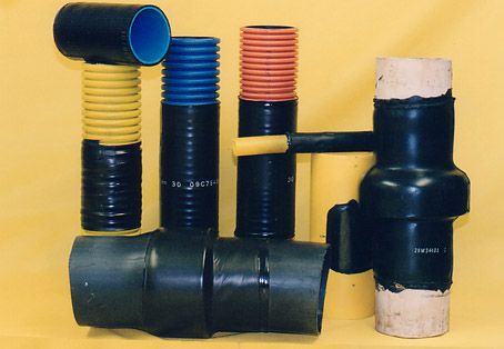 Various types of heat shrink sleeve products
